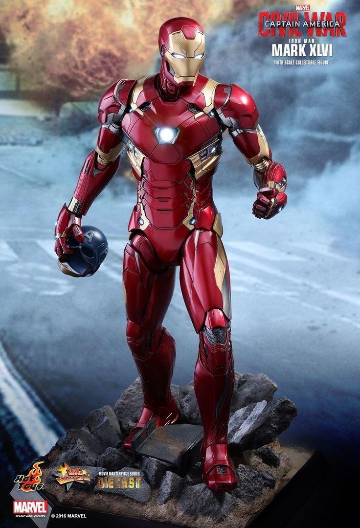 Hot Toys MMS353 Civil War Iron Man Mark 46 XLVI Die-cast Figure