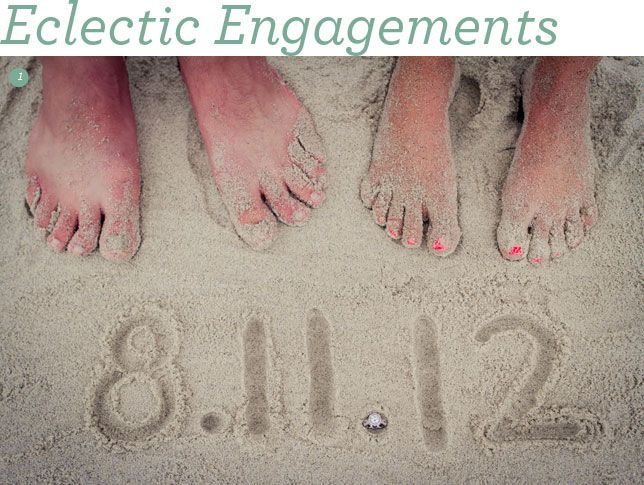 stick your toes in the sand for your engagement photo.  Love this shot!  #engagementphoto