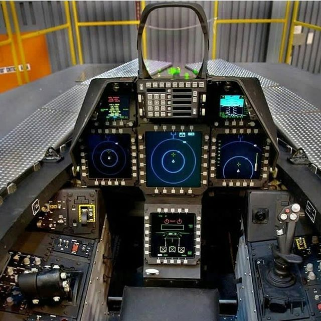 This Cockpit Of The F 22 Raptor Cockpit Flight Simulator