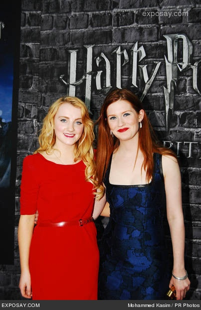 evanna lynch and bonnie wright   harry potter