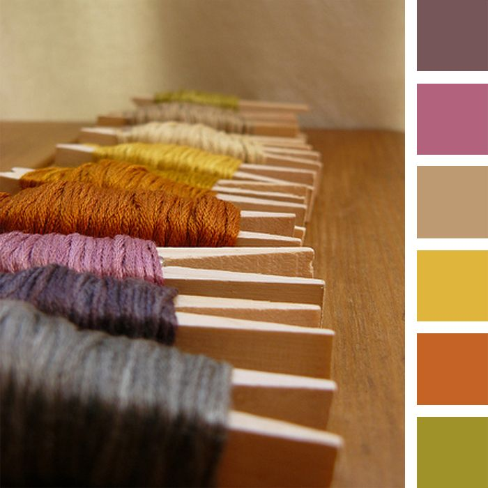 A fall color palette for autumn inspiration! #color #inspiration #fall