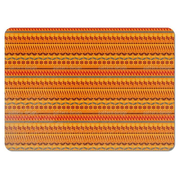 Uneekee Multi Kulti Orange Placemats (Set of 4) (Multi Kulti Orange Placemat) (Polyester)