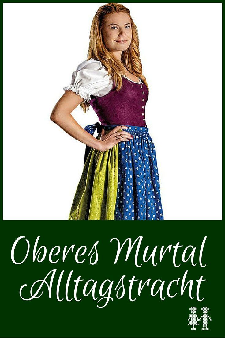 Die Oberes Murtal Alltagstracht ist eine bunte steirische Tracht aus Leinen und Baumwolle.