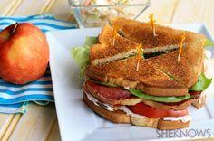 Fried bologna club sandwich