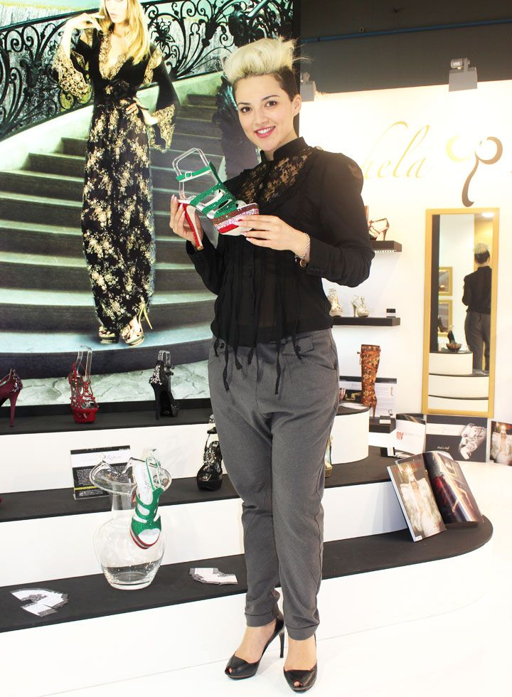 Celebrities!!! Rajae Bezzaz official with our shoes Michela Rigucci Luxury!