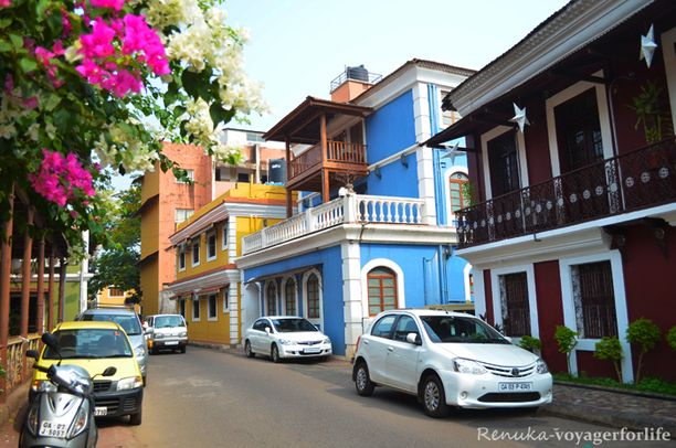 Fontainhas, Panjim, India — by Renuka. Fontainhas is an old quarter in Panjim, Goa. It's a lovely place for wandering, lingering, noshing and admiring art...