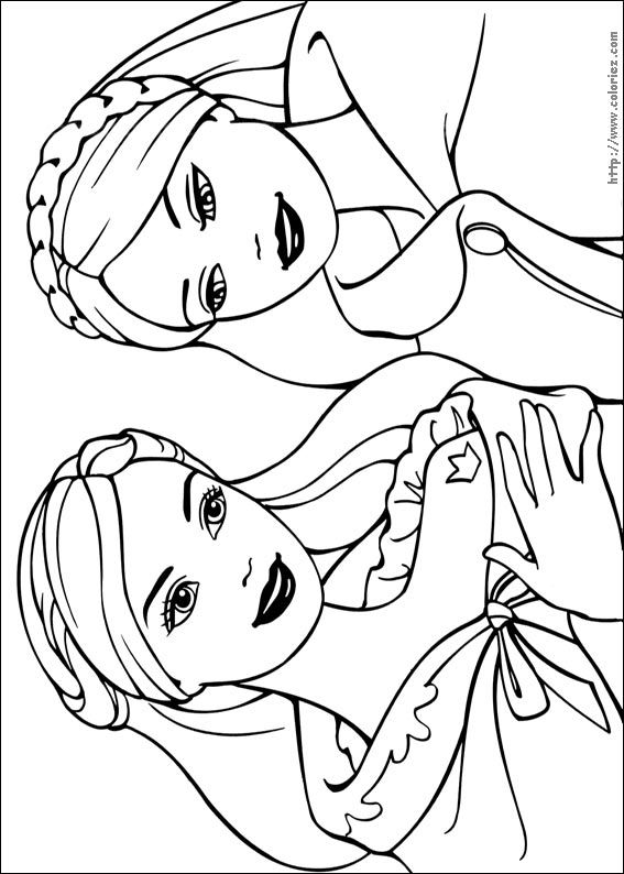 Barbie Princess 01 Coloring Pages Printable And Book To Print For Free Find More Online Kids Adults Of