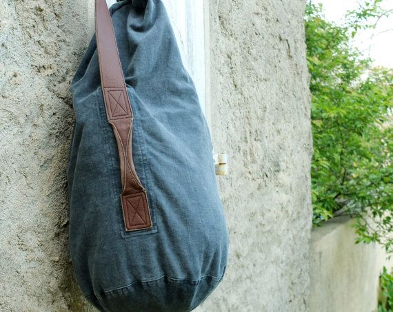 Duffel in Twill Cotton & Canvas by FADEDBRAND on Etsy