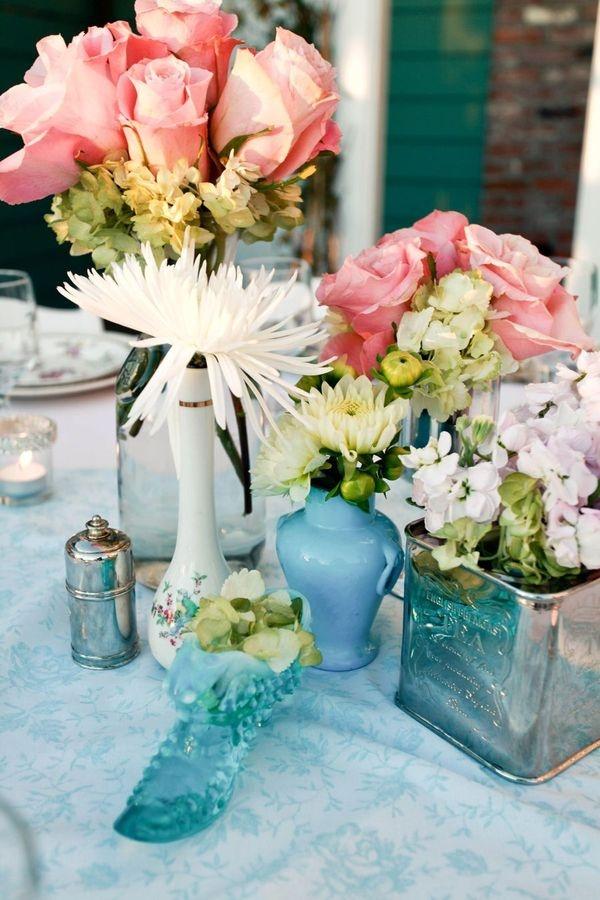 blue & pink vintage
