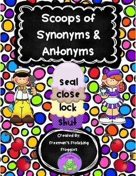Quickly and easily assemble a file folder game with this activity. It is great to use during reading small group instruction as an independent work station. Product includes: 7 ice cream bowls with different words on each 21 synonym scoops to be matched with bowls 21 antonym scoops to be matched with bowls 2 pockets for