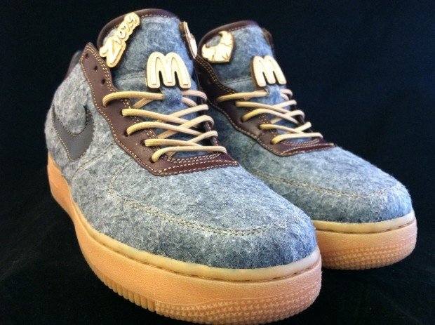 """These shoes have style...but the laces don't! PMK x Eigthy81 x Cleveland Classic Bespoke Nike Air Force 1 """"Letterman"""""""