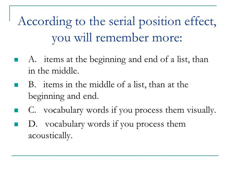 10 best serial position effects images on Pinterest Gcse - copy blueprint medicines analyst coverage