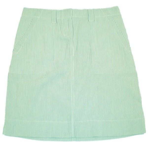 Green Seersucker Skirt 19 Inch ($69) ❤ liked on Polyvore featuring skirts, bottoms, green skirt and seersucker skirt