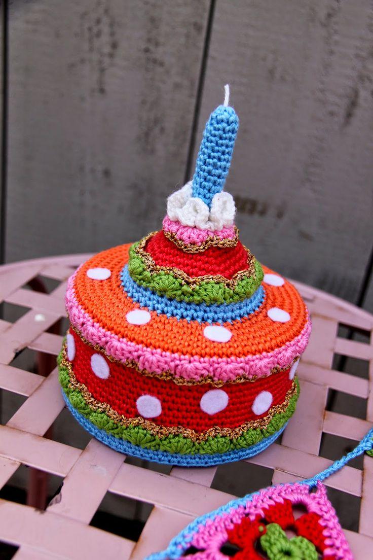 Taart haken met patroon! Cake crochet tutorial.