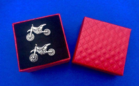 Motocross Cufflinks~Dirt Bike Cufflinks~Handmade~Handmade in the USA~FAST Shipping from the USA~