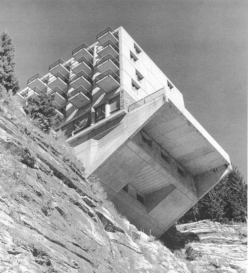 Marcel Breuer -Hotel La Flaine - French Alps - 1969