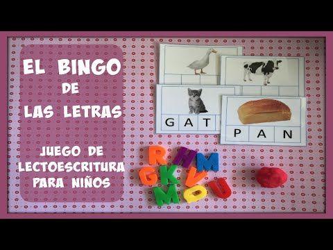 VIDEO JUEGO DE LECTOESCRITURA: EL BINGO DE LAS LETRAS | Maestros de Audición y Lenguaje