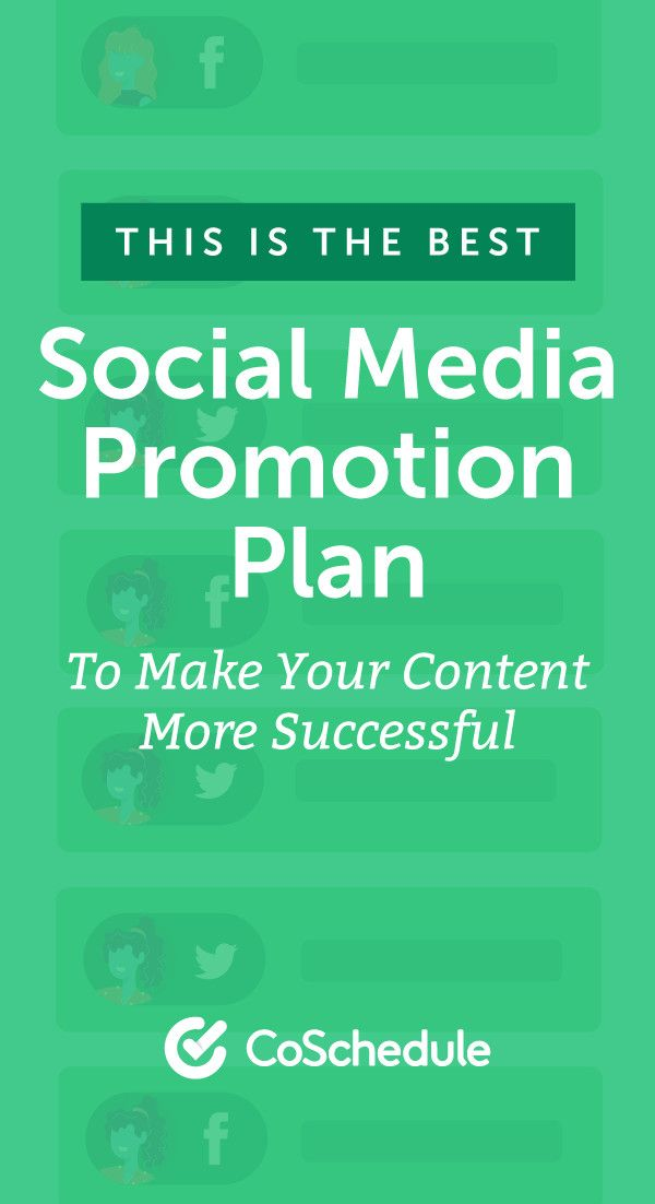 how to build the best social media promotion schedule for your