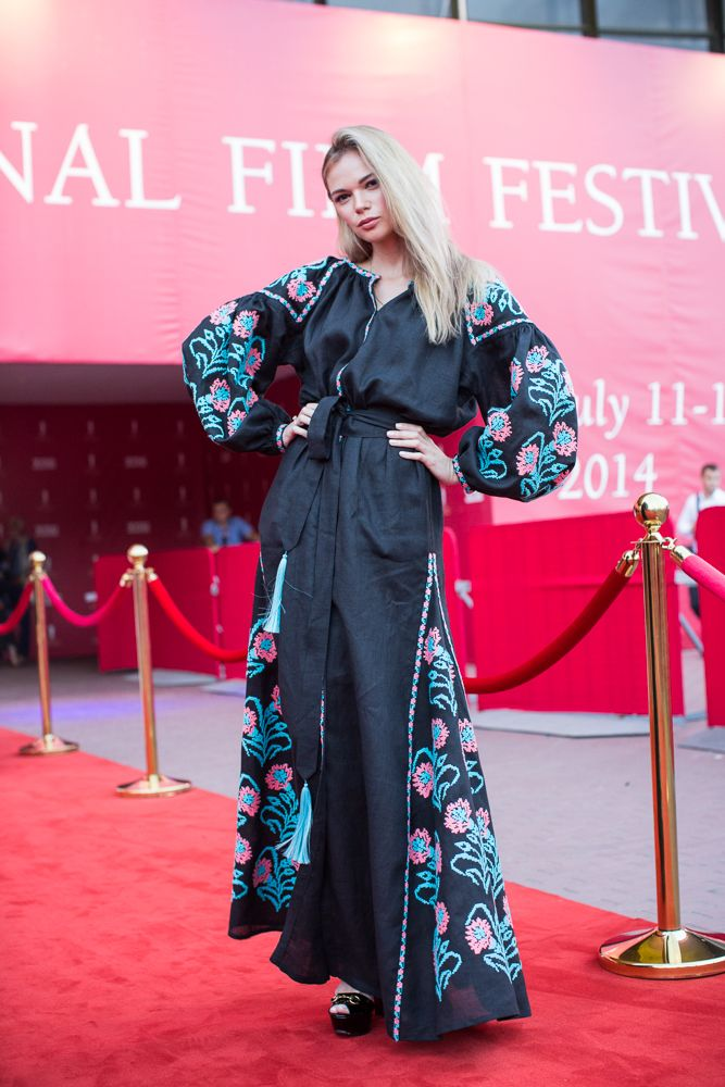 Vita Kin Dress at Odessa cinema festival red carpet ...