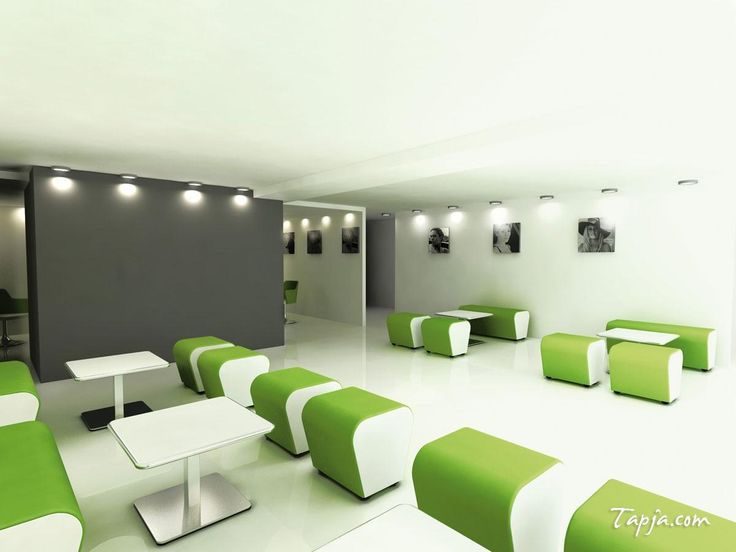 Winsome White Gray Wall Colors For Modern Office Design With White Green Furniture Set Including Lighting Idea In Ceiling Along With White Tile Floor What