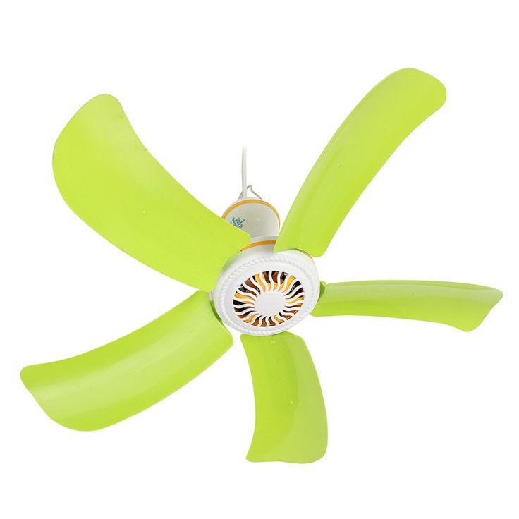 Mini Portátil ventilador de techo mosquito net redes de viento Súper Silencioso ventilador eléctrico Grande colgando del ventilador Viento Suave del hogar