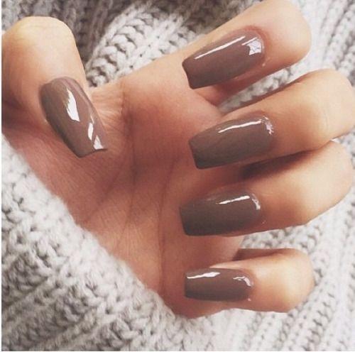 brown polish + sweater