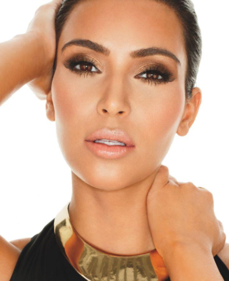 Maquillaje para ojos marrones paso a paso! El look esfumado es ideal para conseguir una mirada más intensa, sólo mira a Kim Kardashian