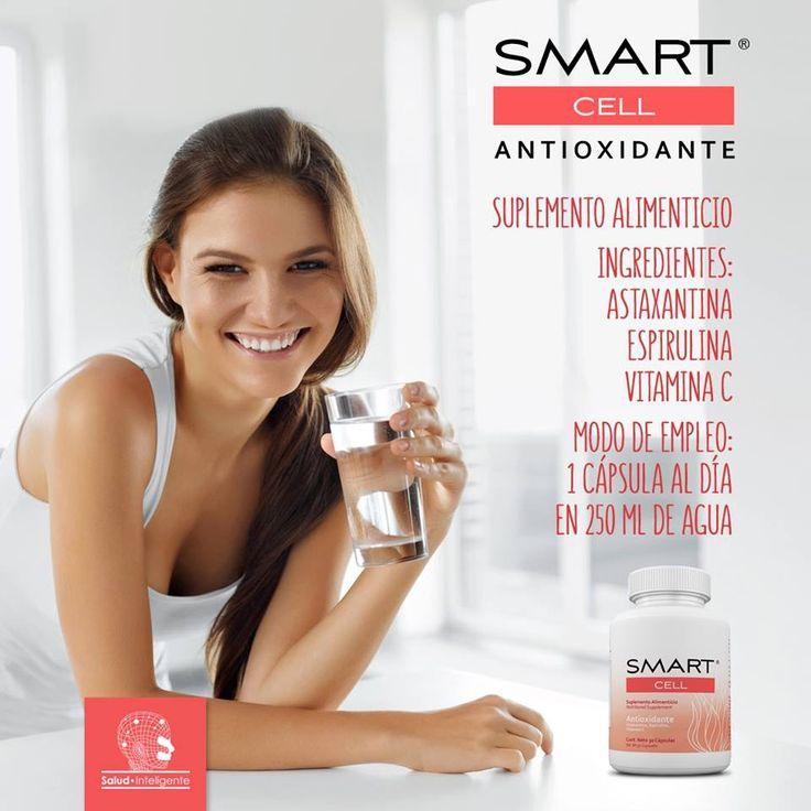 Conoce SMART CELL® Antioxidante, con la fórmula más completa y eficiente: Astaxantina, Espirulina y Vitamina C  ¡El futuro es ahora! www.salud-inteligente.com
