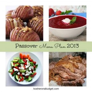 Simple, kid-friendly #Passover Meal Plan ~ 2013