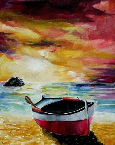 Acrylic Painitng, Sixth Grade