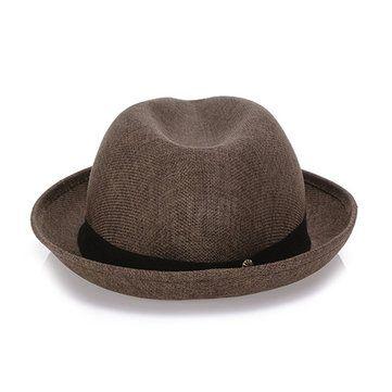 Női Női fehérnemű Jazz Cap Wild Pure Color Beach Sun sapkák Férfi Pár Panama Hat a Banggood