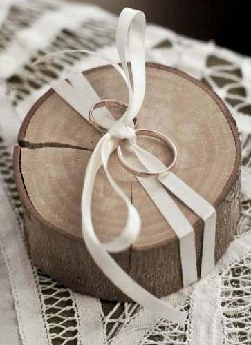 porta-alianças em madeira maciça
