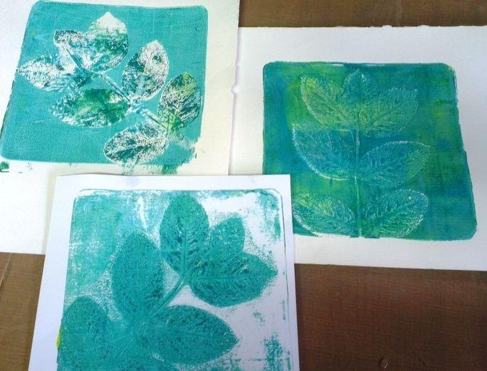 More @Gelli Arts® leaves
