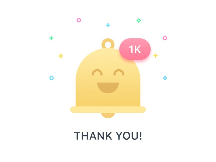 Thank you for 1000 followers on dribbble by Adrian Goia