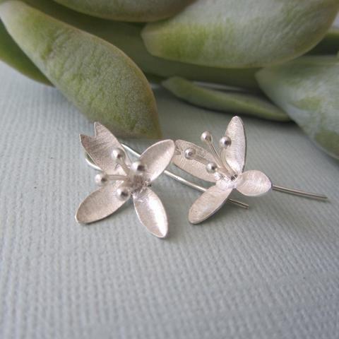 Delicate Silver Lillies