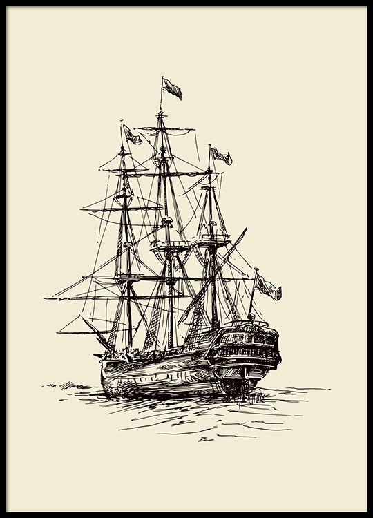 Ship, poster in the group Posters & Prints at Desenio AB (8378)