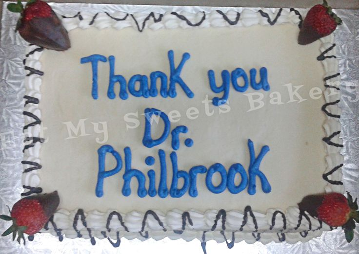 Thank You Cake Corporate- Custom Strawberry Shortcake