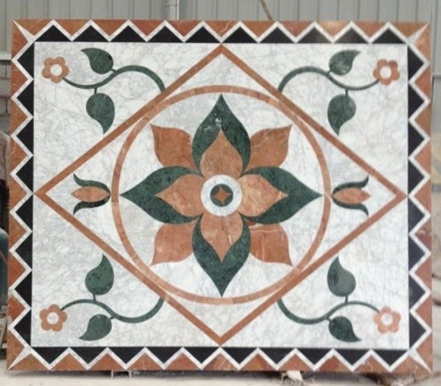 Marble Floor Inlay Cutting : Best images about waterjet medallion inlay on