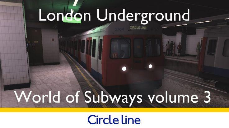 World of Subways volume 3 London Underground Circle Line simulator FULL JOURNEY #tfl #tube #londonunderground #london #simulation #gaming
