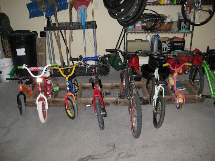 Bike Storage For The Kids Bike Out Of 2 By 6 S Garage