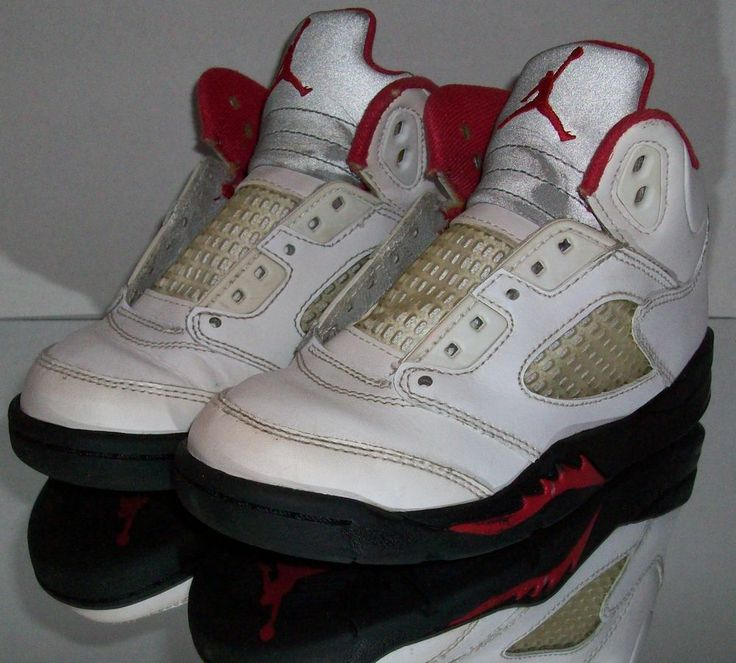 Nike Air Jordan Retro 5 V toddler size 12c white fire red black Air Jordan  Retro