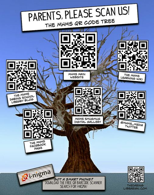 QR_CODE_TREE by The Daring Librarian, via Flickr  Great ideas for using QR codes in the classroom and for parents.