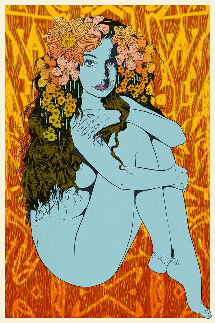 Chuck Sperry's mesmerising psychedelic Art Nouveau Muses are worth the trip to San Francisco... http://www.we-heart.com/2014/12/12/chuck-sperry-muses-san-francisco/