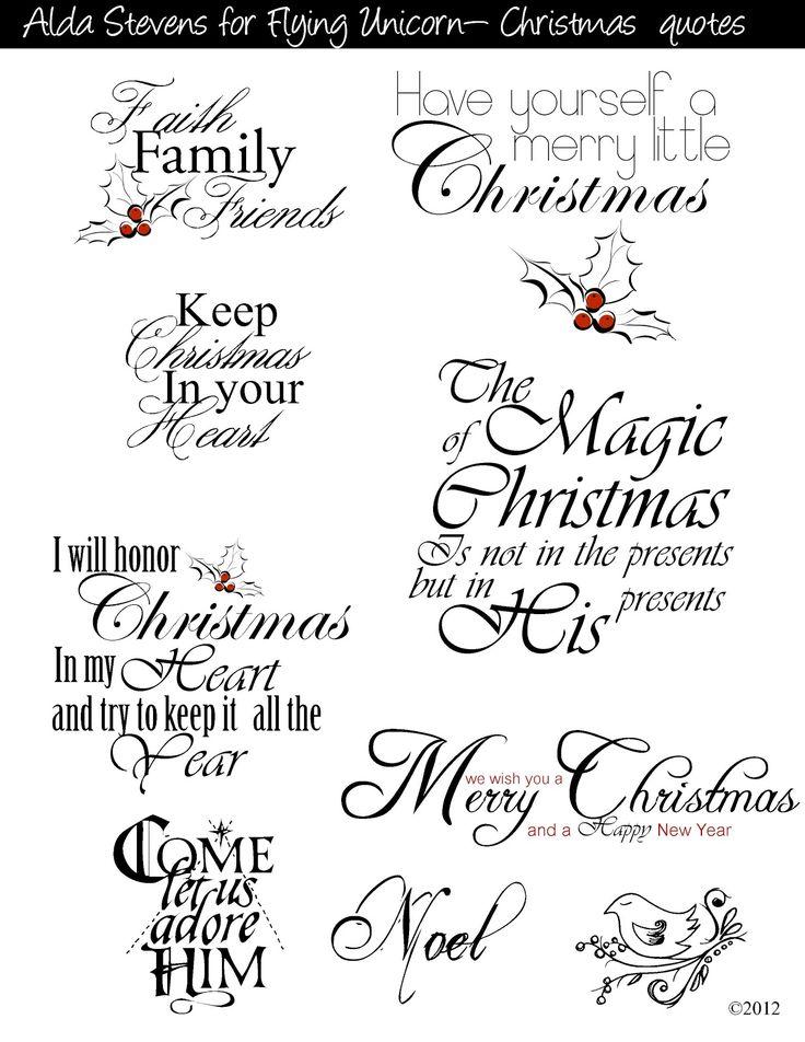 Flying Unicorn: Christmas Tags With Digi Goodies