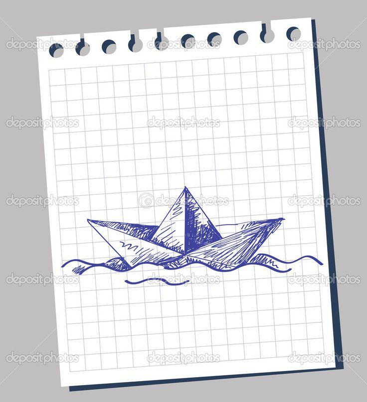 ship drawing paper - photo #14