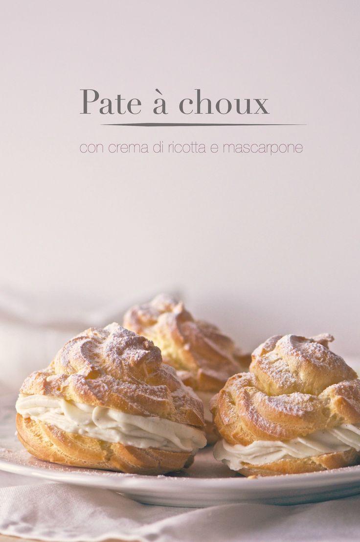 Pate à choux con crema di ricotta e mascarpone