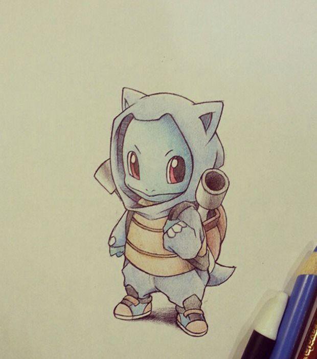 Pokémon : Carapuce déguisé en Tortank