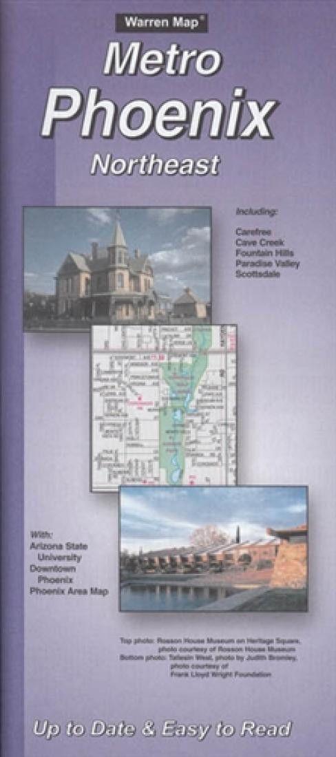 Phoenix, Arizona Metro, Northeast by The Seeger Map Company Inc.