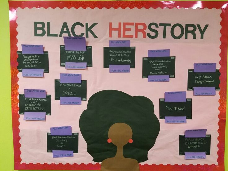 February women of black history month RA bulletin board
