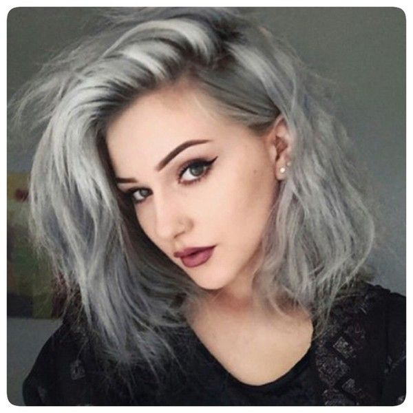 Granny Grey Hair Trend ❤ liked on Polyvore featuring accessories, hair accessories, hair, hairstyle and people